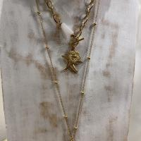 Collier Multi rangs Shell