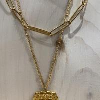 Collier Cœur d'or