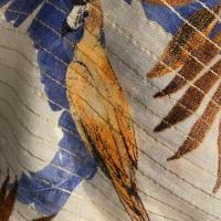Foulard Perroquet bleu