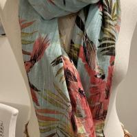 Foulard Perroquet rose