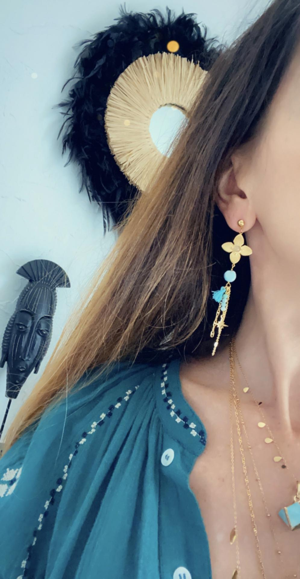 boucles turquoise